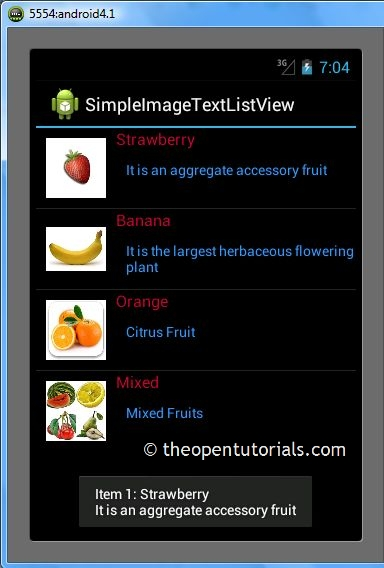Android: Custom ListView with Image and Text using