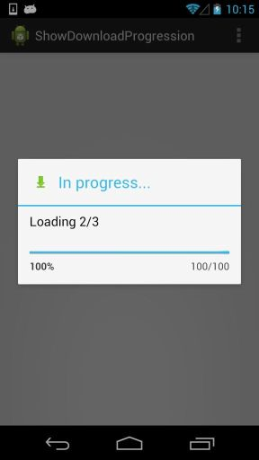 Android: Download multiple files showing Progress Bar » the