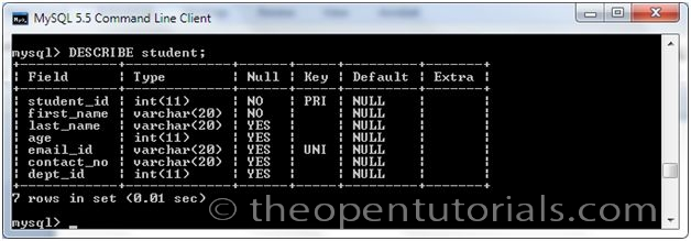 Create Table Syntax 187 The Open Tutorials