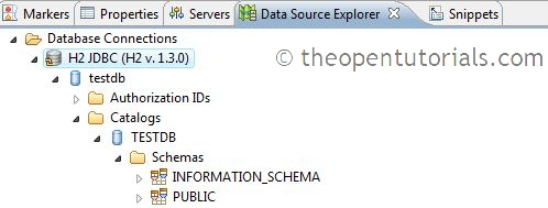 Eclipse DTP: Configure H2 Datasource using Data Source Explorer