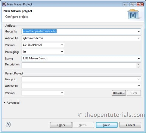 How to create a EJB 3 x project using Maven in Eclipse
