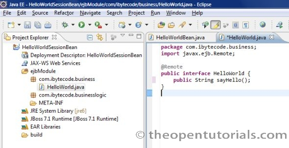 How to create a simple EJB3 project in Eclipse (JBoss 7 1