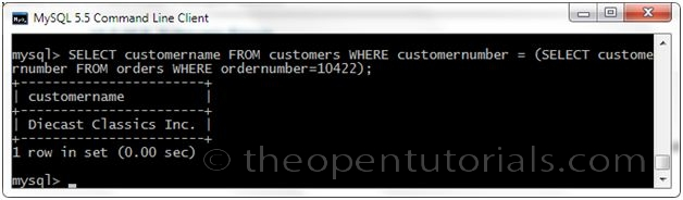 How to write subqueries in mysql
