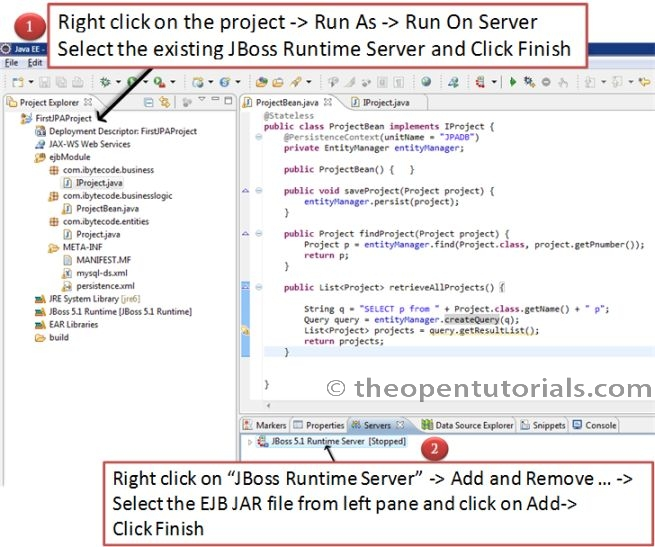 How To Create EJB3 JPA Project In Eclipse (JBoss AS 5.1